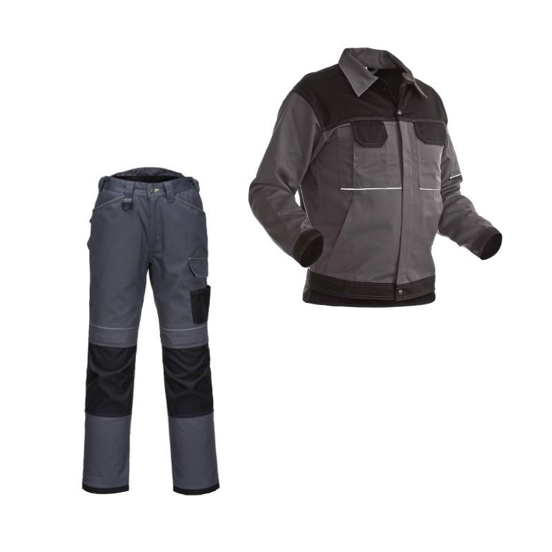 Blouson et pantalon de travail bicolore