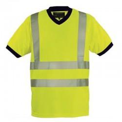 T-shirt col V haute visibilité