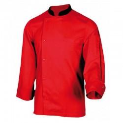 Veste de cuisine rouge homme