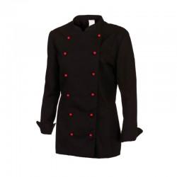Veste de cuisine noir manches longues