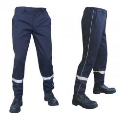 Pantalon bleu marine avec bandes de visibilité