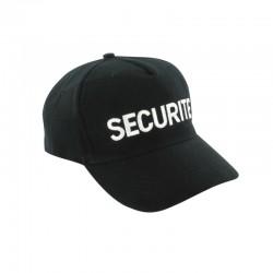 Casquette noir agent de sécurité
