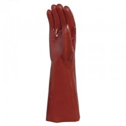 Gant en PVC rouge 40 cm
